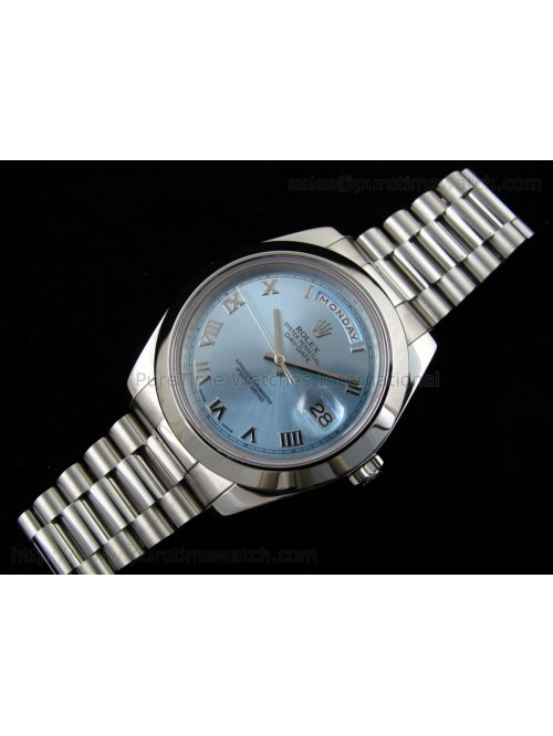 Day-Date II SS Ice-Blue Roman Dial A3156 Best Edit...