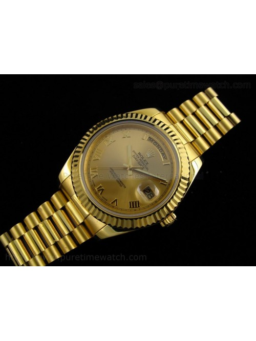 Day-Date II Yellow Gold Gold Roman Dial A3156 Best...