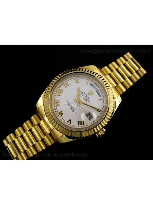 Day-Date II Yellow Gold White Roman Dial A3156 Bes...