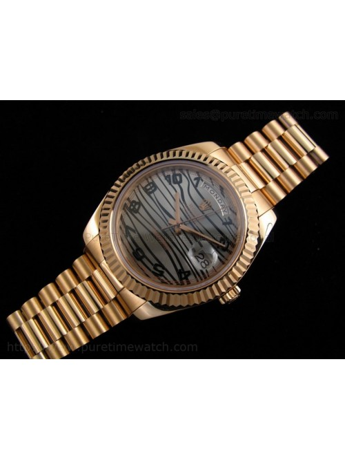 Day-Date II Everose Gold Silver Dial A3156 Best Ed...