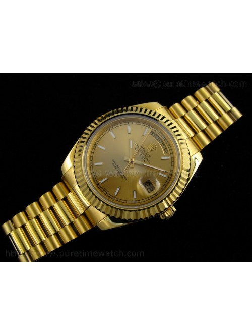 Day-Date II Yellow Gold Gold Stick Dial A3156 Best...