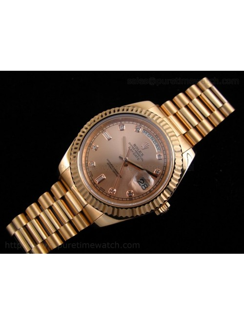 Day-Date II Everose Gold Rose Gold Dial A3156 Best...