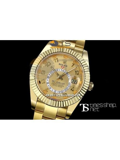 RO13439 - Sky-Dweller Yellow Gold Dial Full YG - S...