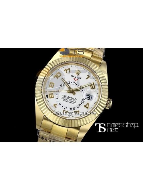 RO13437 - Sky-Dweller White Dial Full YG - Swiss E...