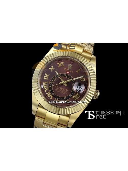 RO13436 - Sky-Dweller Brown Dial Full YG - Swiss E...