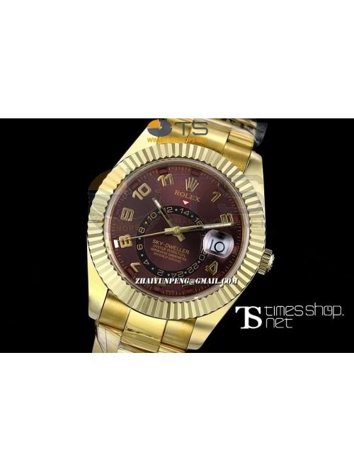 RO13435 - Sky-Dweller Brown Dial Full YG - Swiss E...